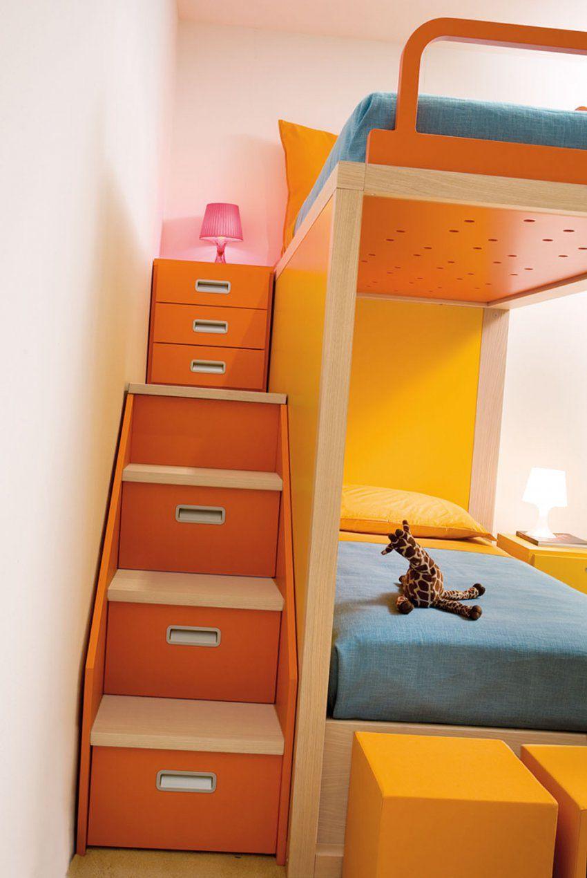 Design Hochbetten Für Kinder Bei Mobimio Kaufen von Hochbett Mit Regal Treppe Photo