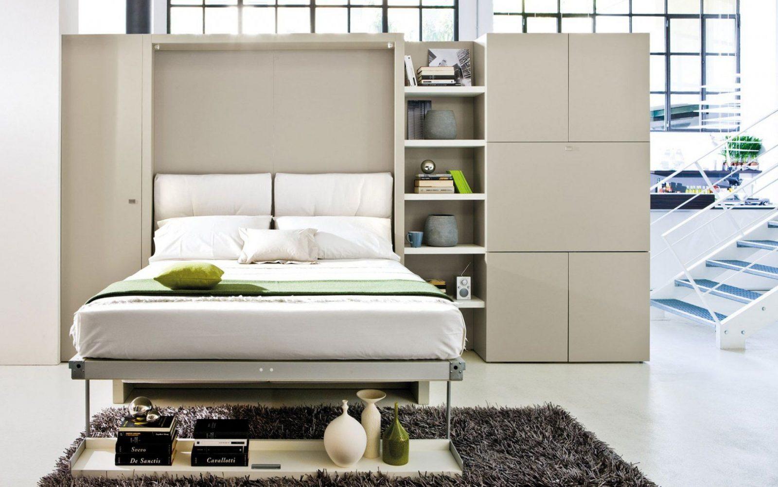 Designer Wohnwand Mit Klappbett  Möbelhaus Dekoration von Wohnwand Mit Integriertem Bett Photo