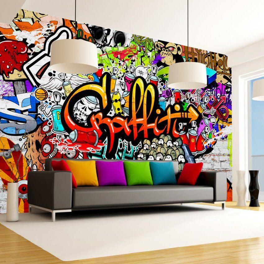 Details Zu Fototapete Graffiti Vlies Tapete Kinderzimmer Wandbild von Wandtattoo Jugendzimmer Jungen Graffiti Bild