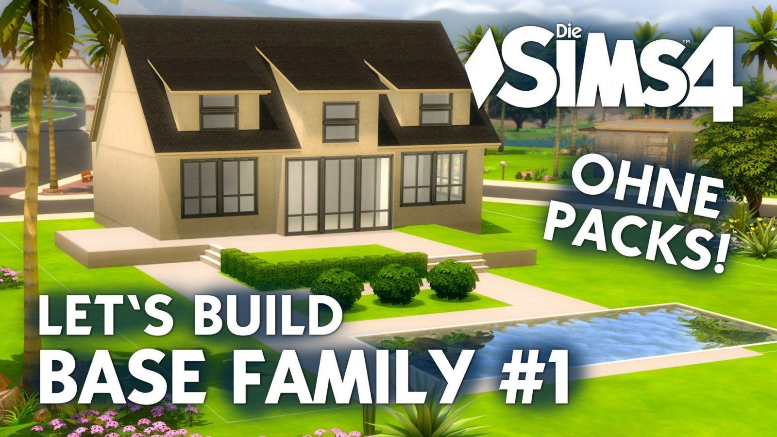 Die Sims 4 Haus Bauen Ohne Packs  Base Family 1 Grundriss von Sims 4 Häuser Zum Nachbauen Photo
