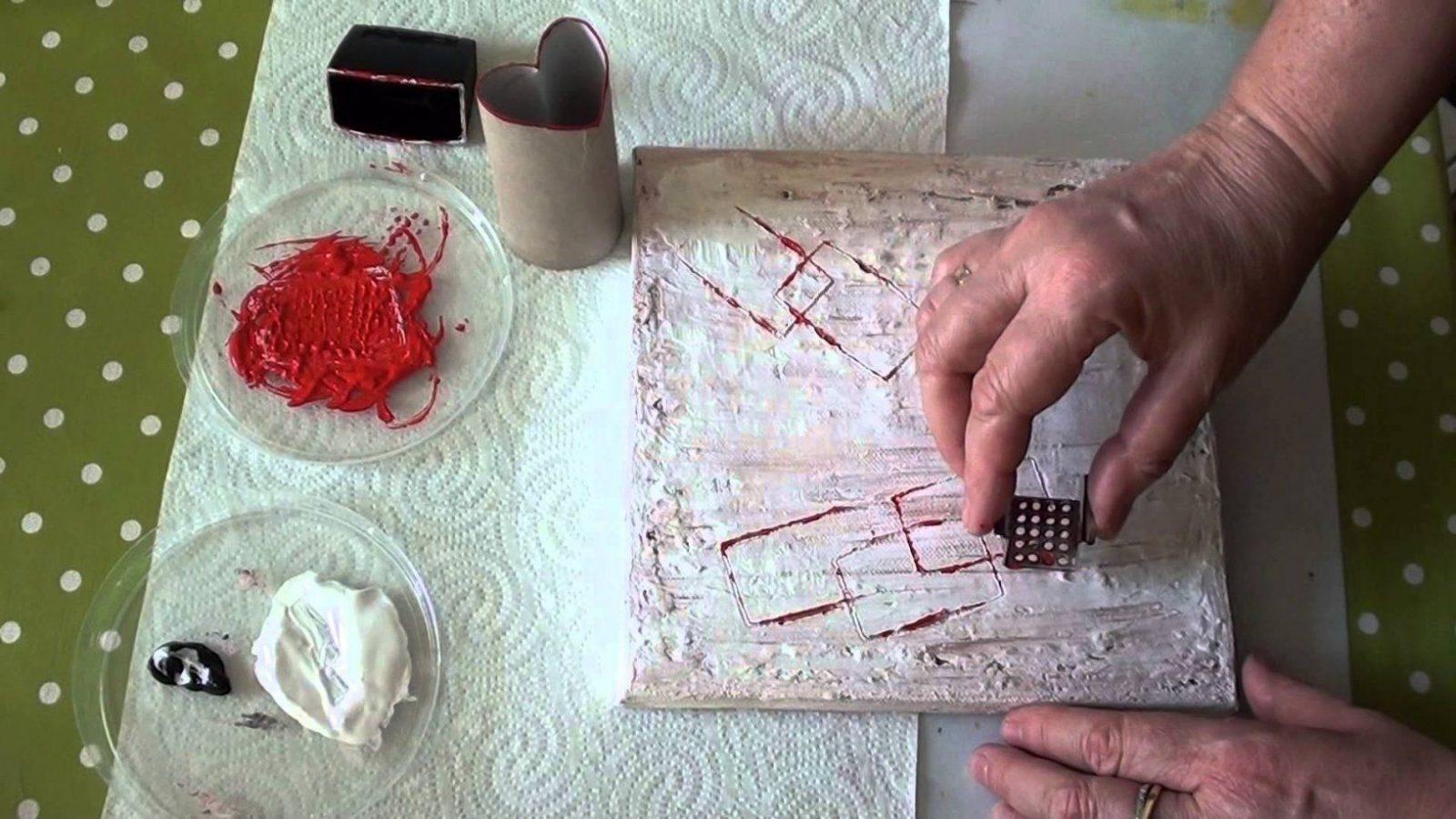 Diy Anleitung Acryl Abstrakt  Kreativ Ohne Pinsel Deko  Youtube von Acrylbilder Für Anfänger Anleitung Bild