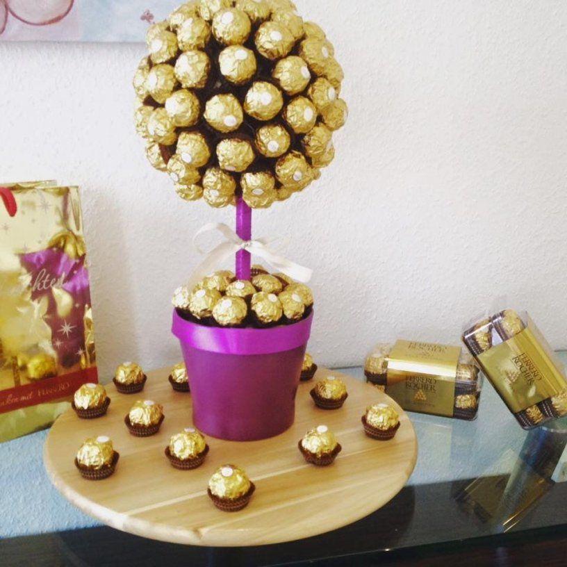 Diy Ferrero Rocher Strauß Ganz Einfach Und Eindrucksvoll Zum Selber von Ferrero Rocher Baum Anleitung Photo