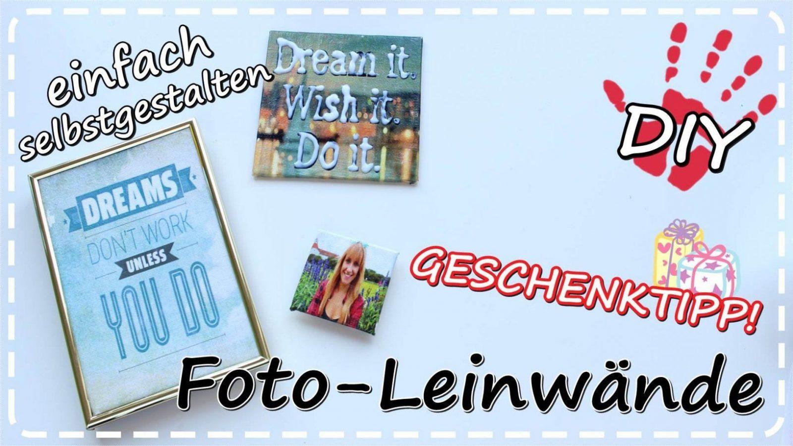 Diy Fotoleinwand Selbermachen Mit Transfer Potch  Geschenkideen von Bilder Collage Auf Leinwand Selber Machen Photo