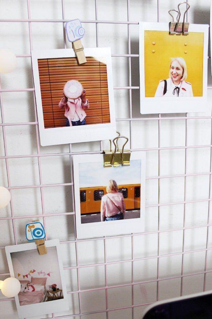 Diy Fotowand Selber Machen & Schreibtisch Deko Basteln  Diy von Fotowand Selber Machen Stoff Photo