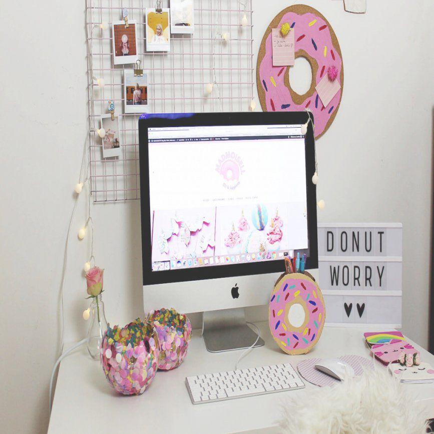 Diy Fotowand Selber Machen & Schreibtisch Deko Basteln In Bezug Auf von Fotowand Selber Machen Stoff Photo