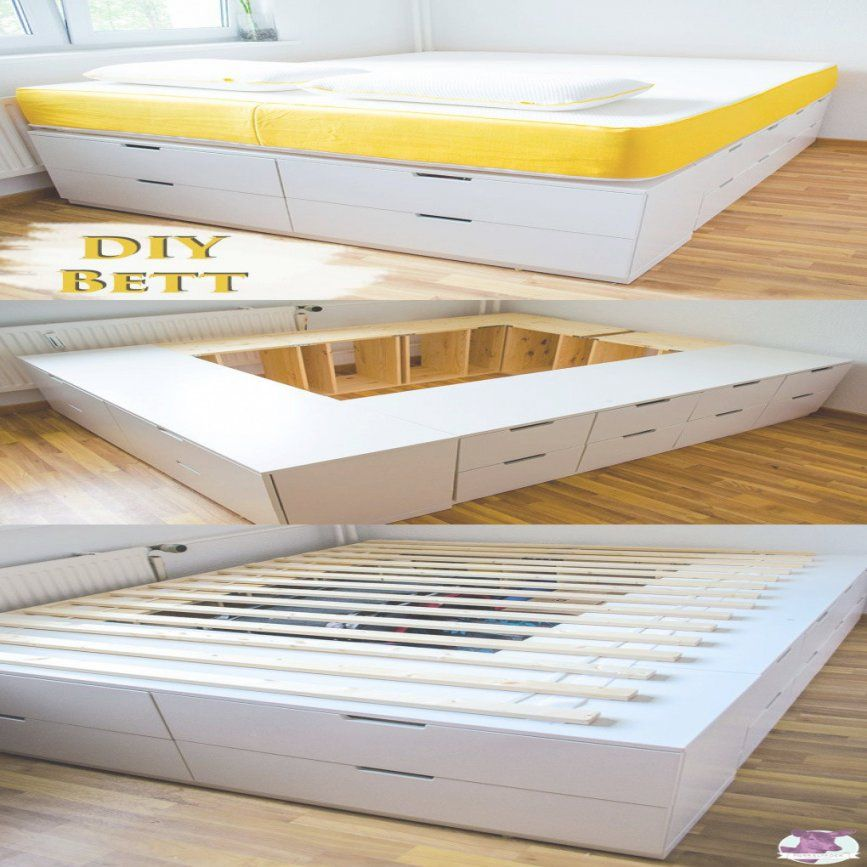 diy ikea hack plattform bett selber bauen aus ikea kommoden f r avec von bett selber bauen ikea. Black Bedroom Furniture Sets. Home Design Ideas