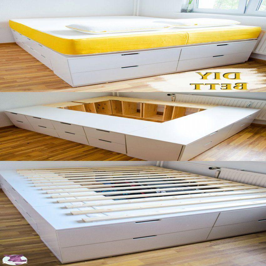 Diy Ikea Hack Plattform Bett Selber Bauen Aus Ikea Kommoden Innen von Bett Selber Bauen Ikea Photo