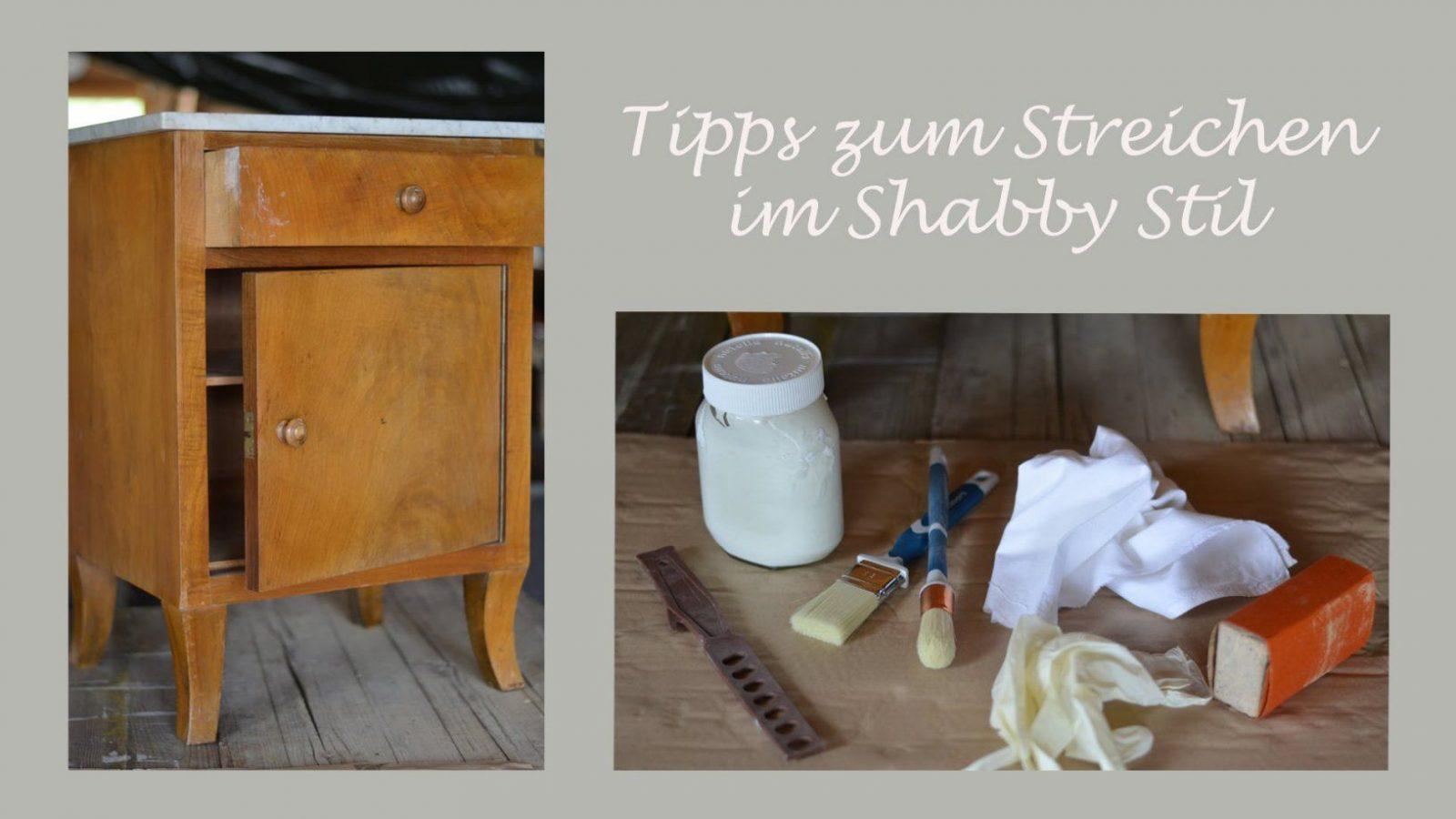 Diy  Möbelstück Im Shabby Chic Stil Streichen  Wertvolle Tipps Und von Antik Look Selber Machen Bild