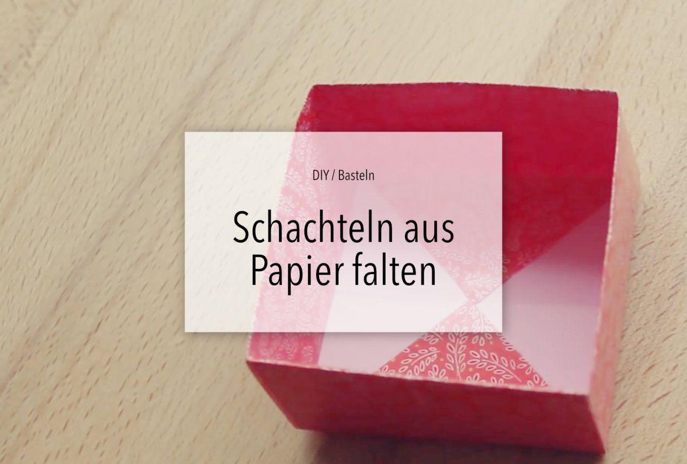 Diy Schachteln Falten  Box Basteln  Youtube von Kleine Schachteln Selber Basteln Photo