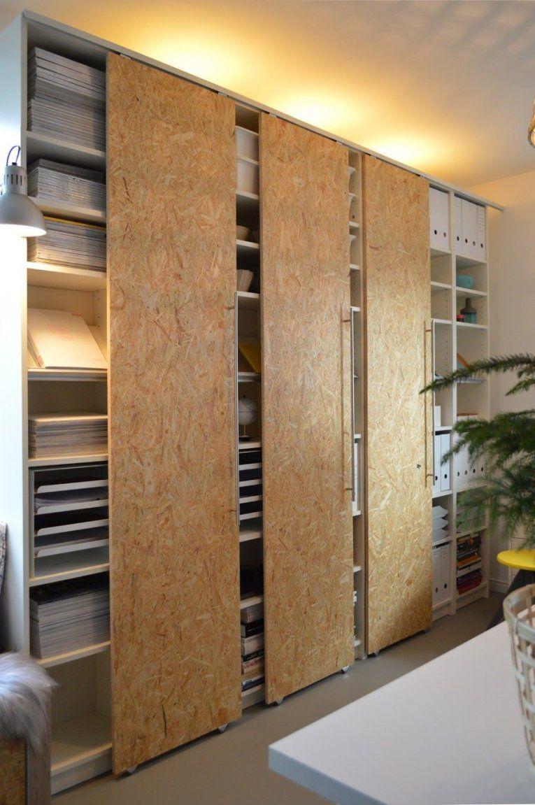 Diy Schiebetüren Selber Machen Ikea Hack Billy (7)  Arbeitszimmer von Kleiderschrank Schiebetüren Selber Bauen Bild