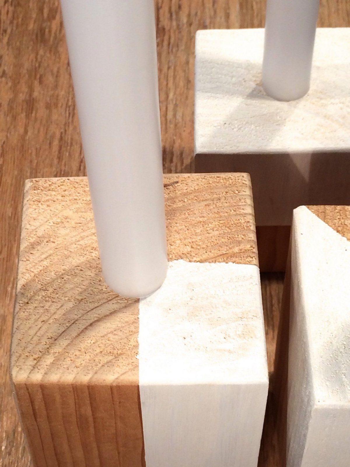 Diy  Trendige Kerzenständer Aus Holz Selbst Herstellen Und Bemalen von Holz Kerzenständer Selber Machen Photo