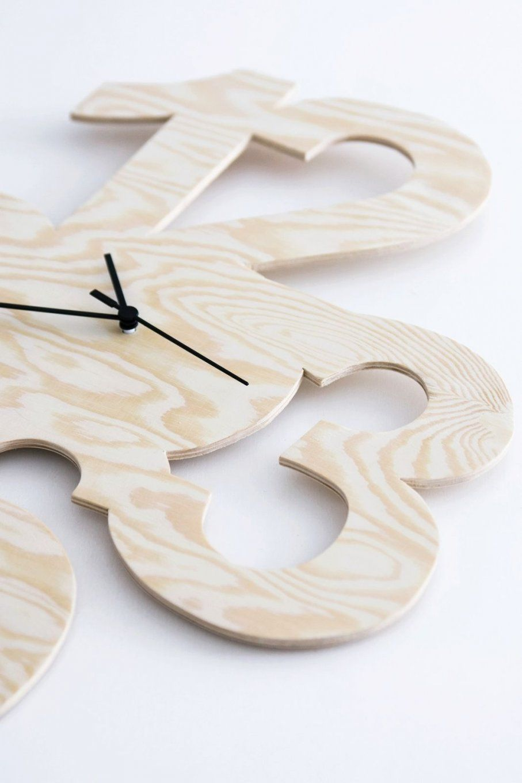 Diy Uhr Aus Kiefersperrholz  Uhren  Pinterest  Diy Uhr Uhren Und von Wanduhr Aus Holz Selber Bauen Bild