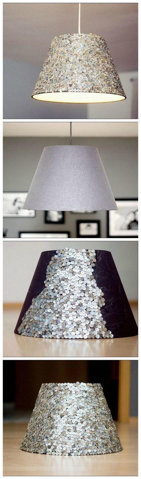 Diyanleitung Lampenschirm Individuell Gestalten Mit Pailletten Via von Do It Yourself Lampenschirm Bild