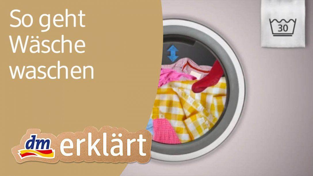 Dm Erklärt Haushalt Für Einsteiger  Wäsche Waschen  Youtube von Unterwäsche Waschen Wieviel Grad Photo