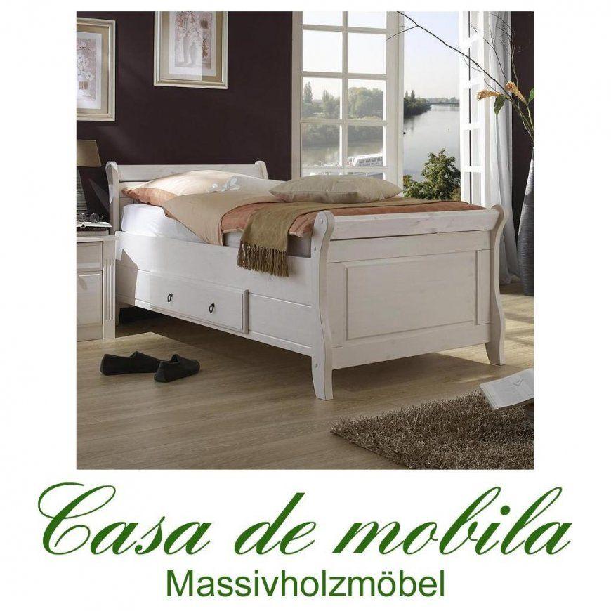 Doppelbett 200X200 Weiß Landhaus Eva  Massiv Holz Kiefer von Bett Landhausstil Weiß 90X200 Photo