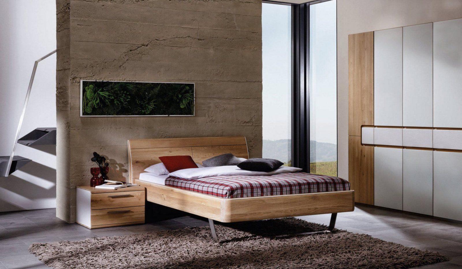 Double Bed  Contemporary  Oak  Walnut  Vlinea  Voglauer von Voglauer V Pur Bett Photo