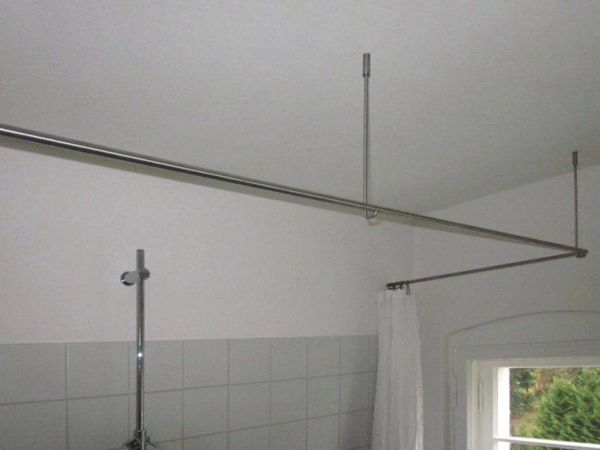 Duschvorhang U Form Duschvorhangstange F R Wandmontage Oder Dachschr von Duschvorhang Halterung Für Badewanne Bild