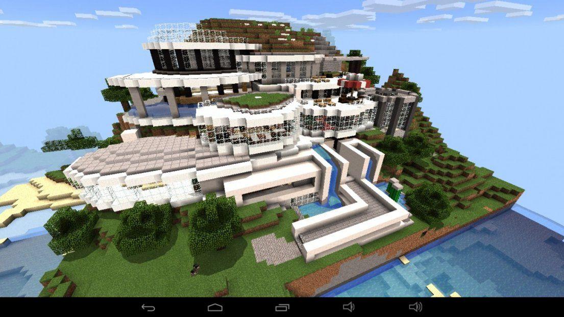 ᐅ Großes Abstraktes Haus Am Berg In Minecraft Bauen  Minecraft von Minecraft Bauideen Zum Nachbauen Bild