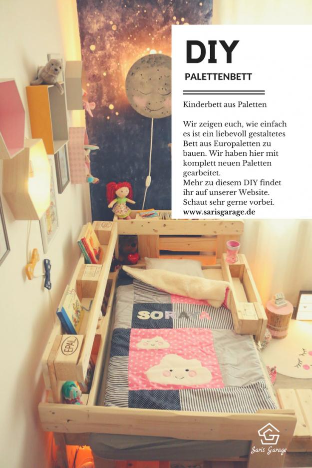ᐅ Palettenbett Für Kinder  Kinderbett Aus Europaletten Diy von Bett Mit Europaletten Bauen Photo