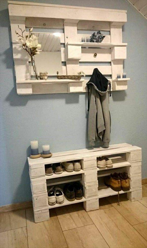 ▷ 1001+ Originelle Palettenmöbel Ideen Zum Selberbauen  Wooden von Schuhregal Aus Paletten Selber Bauen Bild