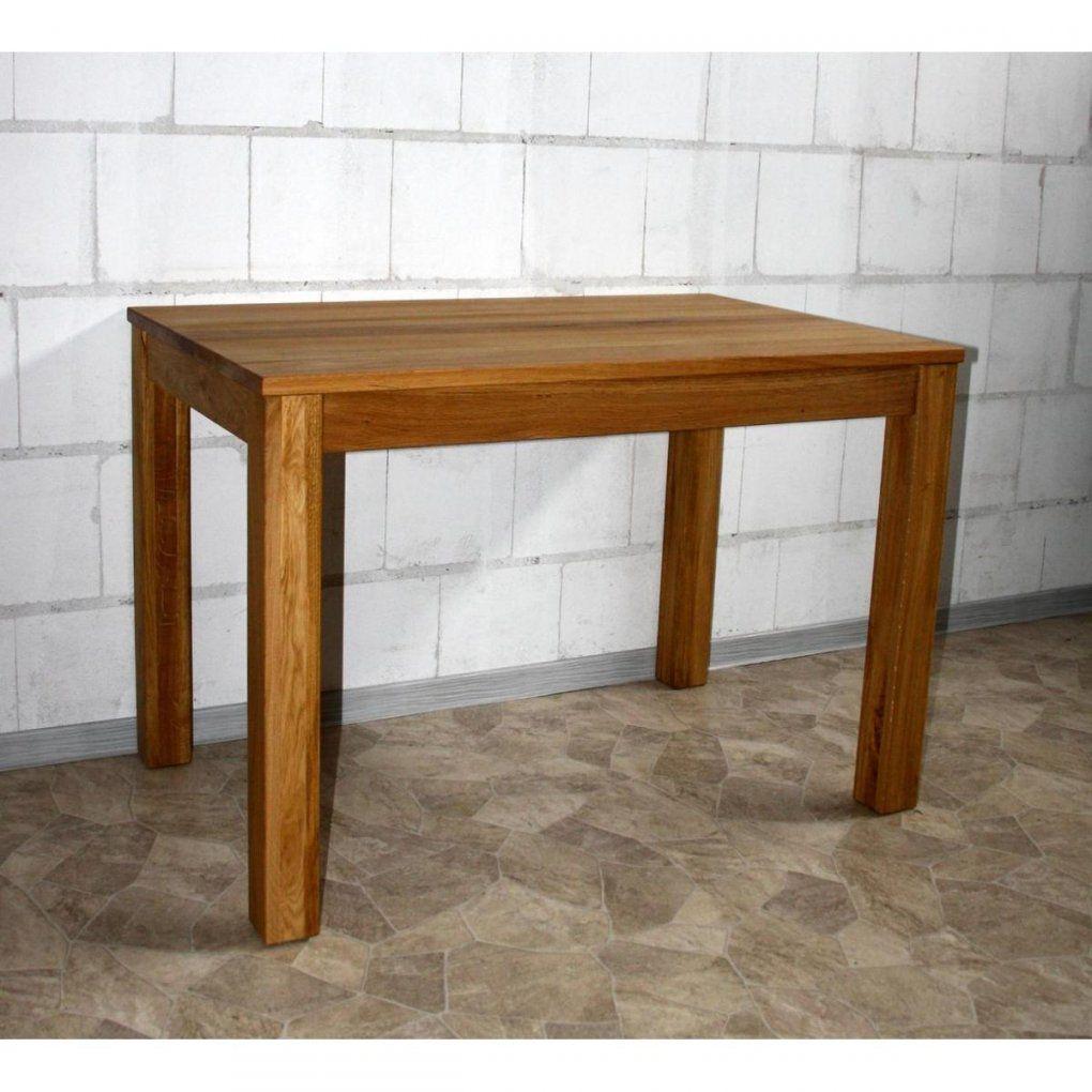 Echtholz Esstisch Esszimmertisch Klein 120X80 Holz Wildeiche Massiv von Küchentisch 80 X 120 Bild