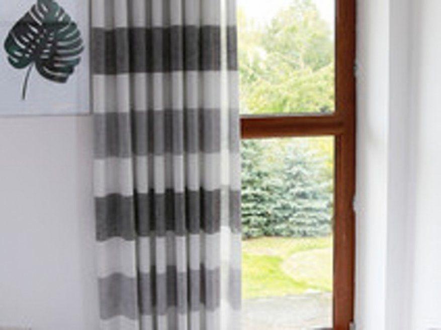 Ehrfurcht Gebietend Vorhänge Grau Weiß Gardinen Grau Wei Gestreift von Gardinen Grau Weiß Gestreift Bild