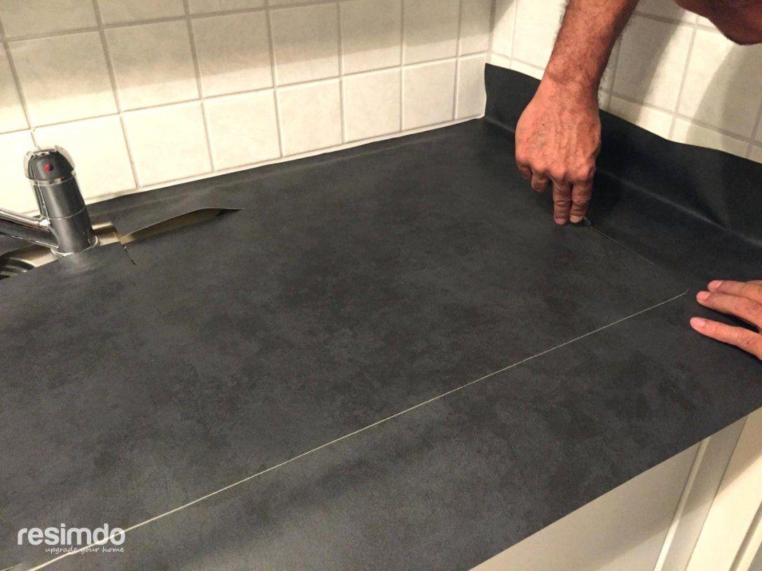 Ehrfürchtige Inspiration Klebefolie Für Arbeitsplatte Küche Und von Arbeitsplatte Mit Folie Bekleben Bild