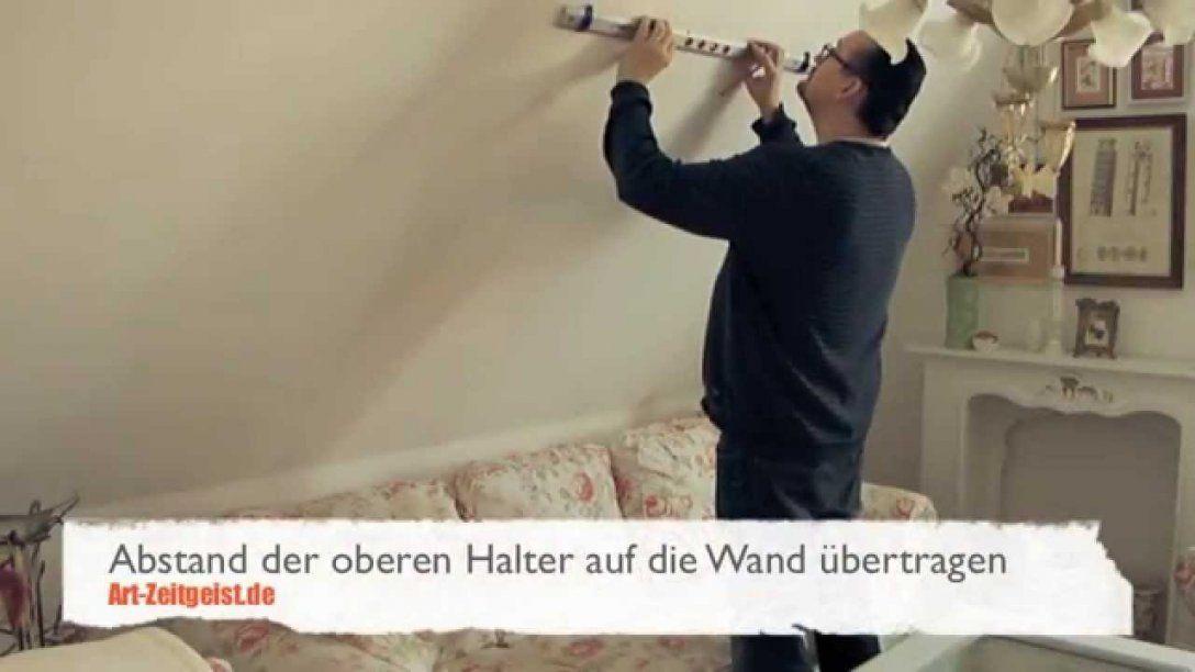 Ein Bild In Der Dachschräge Aufhängen  Youtube von Bilder Für Schräge Wände Bild