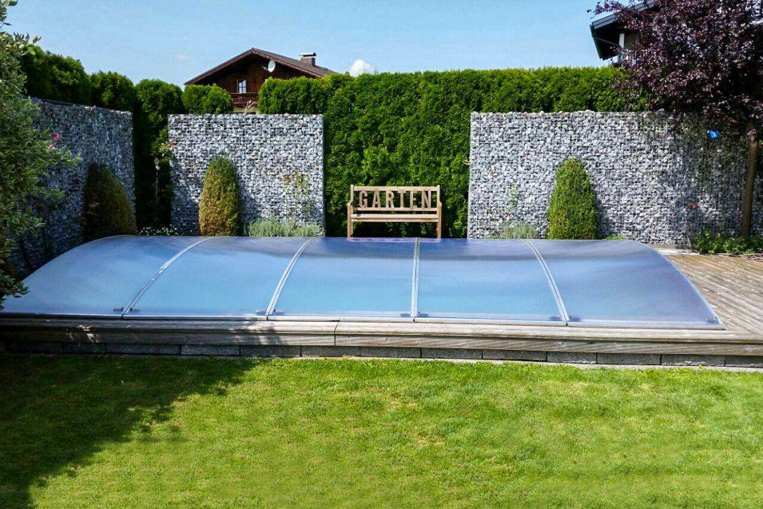 Ein Neues Konzept Zur Abdeckung Von Pools  Flexiroof Poolabdeckung von Pool Winterabdeckung Selber Bauen Bild
