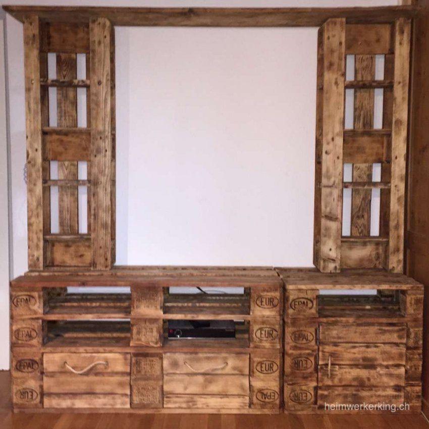 Ein Tv Möbel Aus Paletten Selber Bauen  Heimwerkerking von Tv Möbel Aus Europaletten Bild