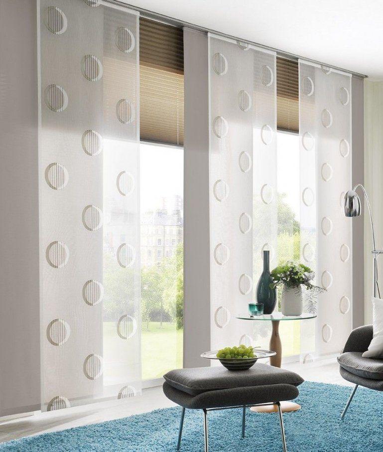 Eine Tolle Kombination Aus Rollos Und Flächenvorhängen  Vorhänge von Plissee Und Gardinen Kombinieren Photo
