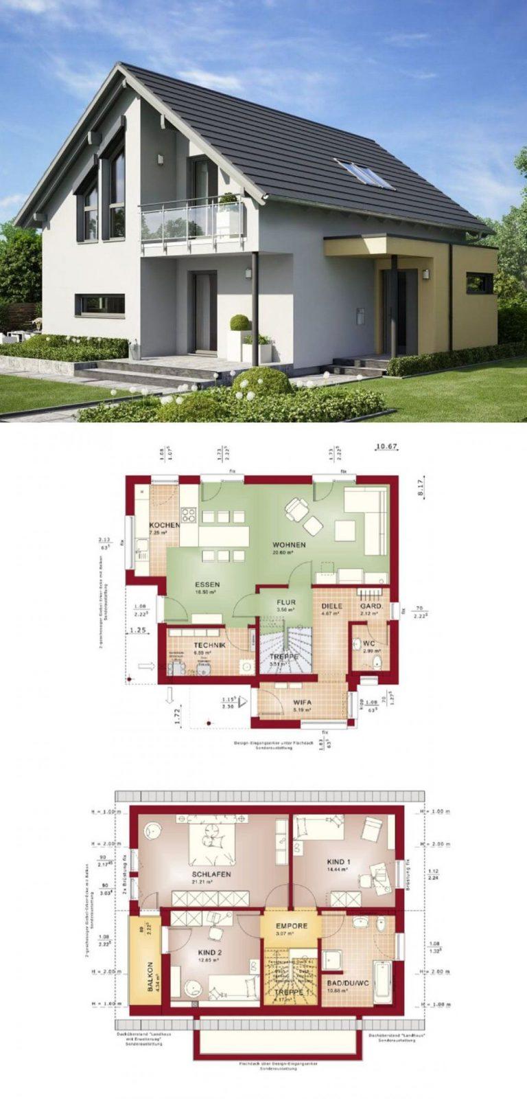 Einfamilienhaus Edition 1 V6 Bien Zenker  Haus Bauen Grundriss von Bien Zenker Edition 1 Bild