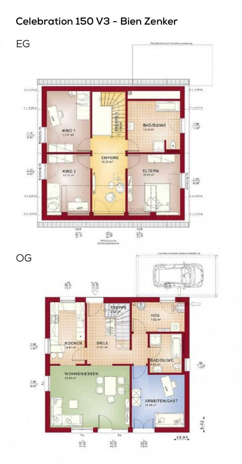 Einfamilienhaus Grundriss Mit Galerie & Satteldach Architektur  5 von Grundriss Einfamilienhaus 150 Qm Photo