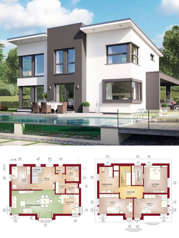 Einfamilienhaus Modern Mit Pultdach & Querhaus  Haus Bauen von Bien Zenker Evolution Stuttgart Photo
