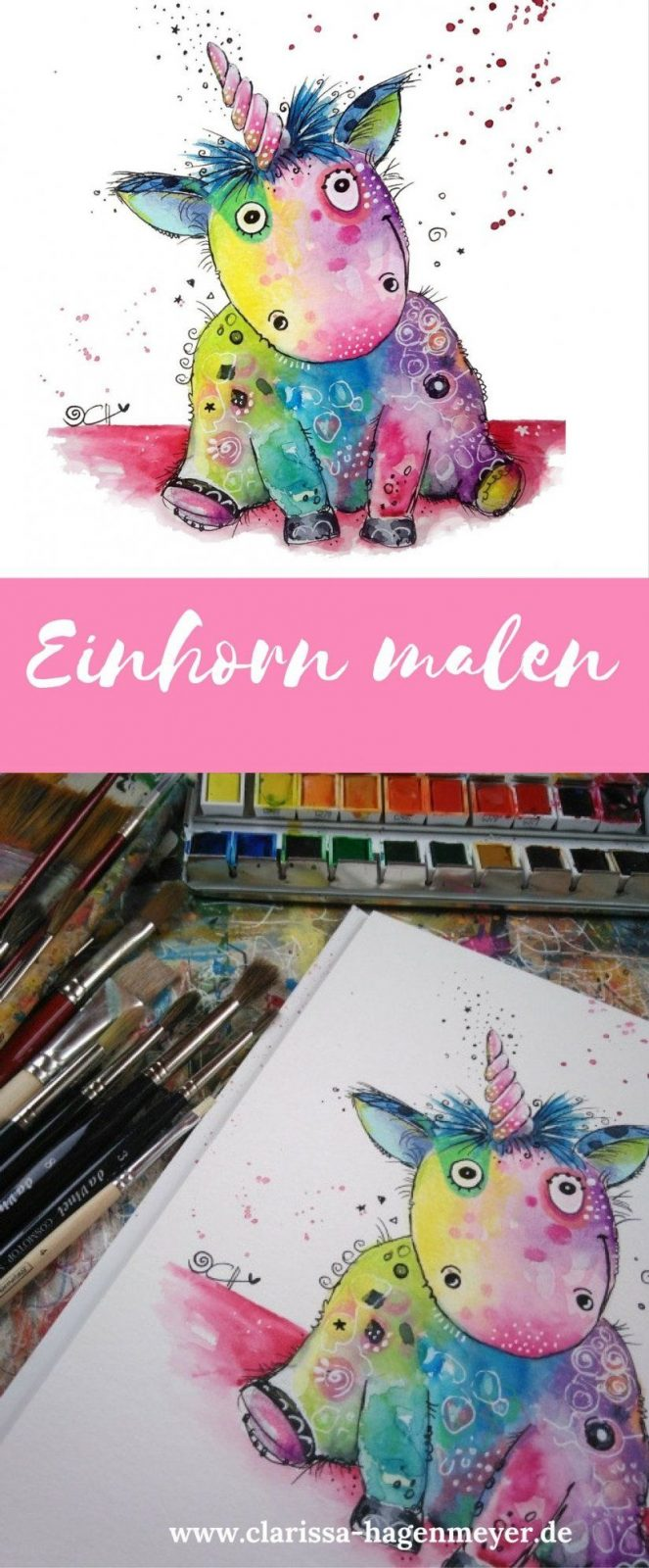 Einhorn Malen Eine Einfache Anleitung Für Dich Für Ein Fröhliches von Acrylbilder Für Anfänger Anleitung Bild