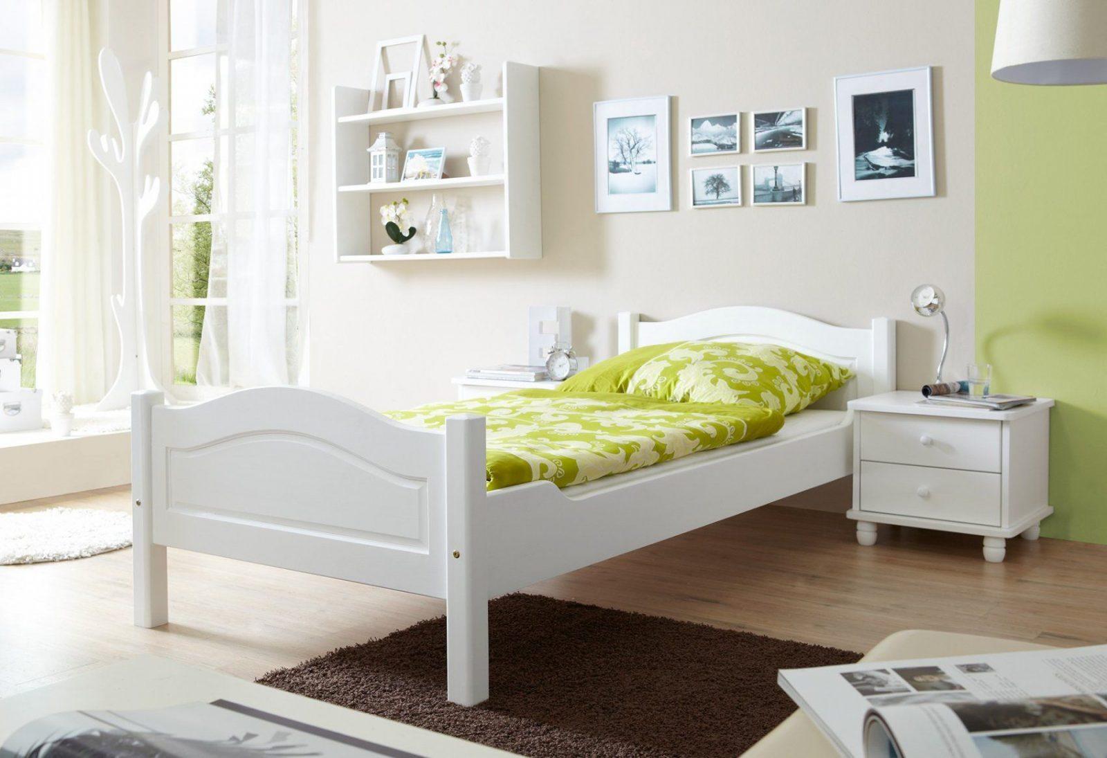 Einzelbett 90X200 Cm Einzelbett Holzbett  Real von Bett Landhausstil Weiß 90X200 Photo