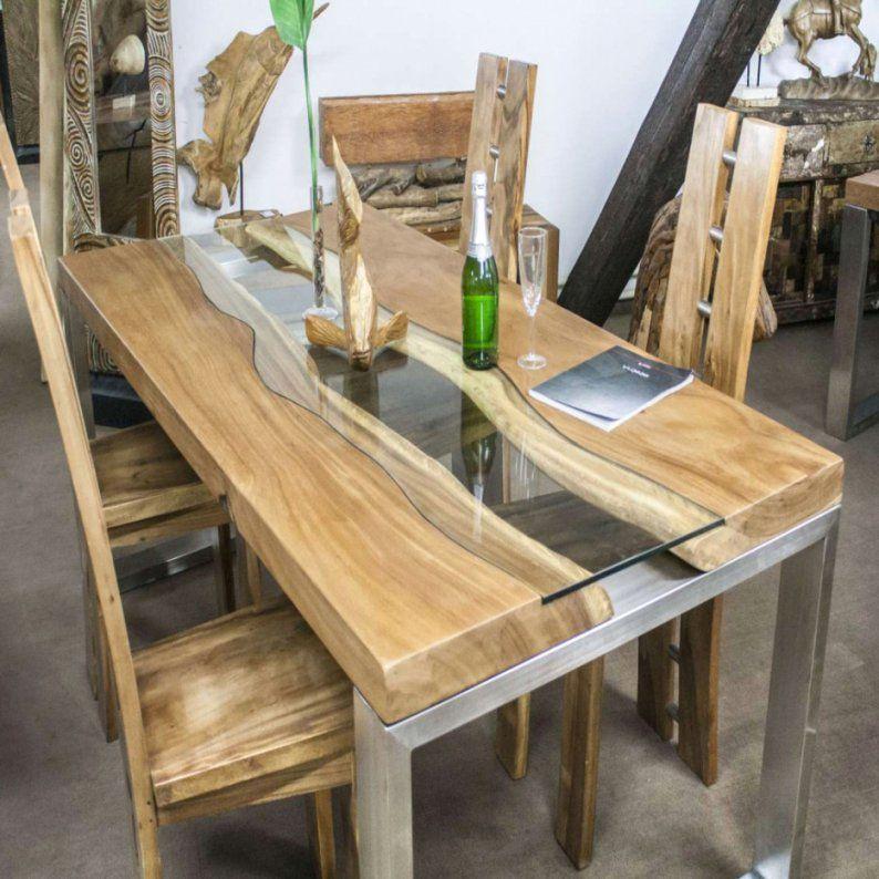 Elegant Holztisch Massiv Selber Bauen Gartentisch Avec von Untergestell Tisch Selber Bauen Bild