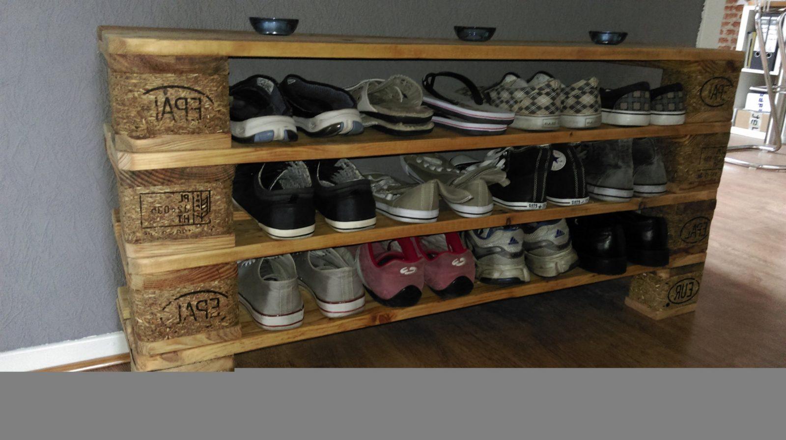 Elegante Paletten Schuhregal Inspiration  Schuhschrank Günstig von Schuhregal Aus Paletten Selber Bauen Bild