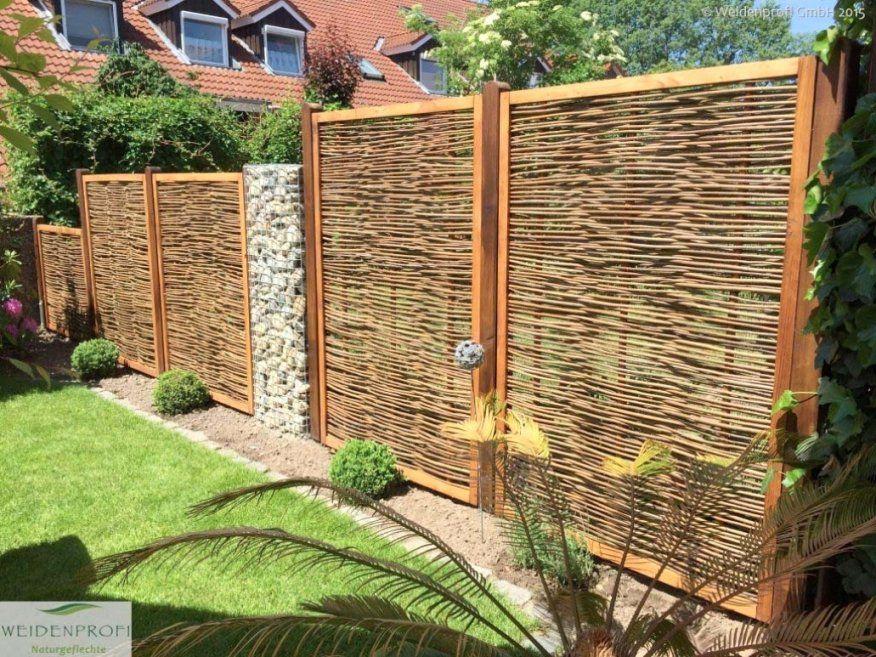Elegantes Garten Trennwand Innenarchitektur Trennwand Garten Avec von Sichtschutz Weide Selber Bauen Bild