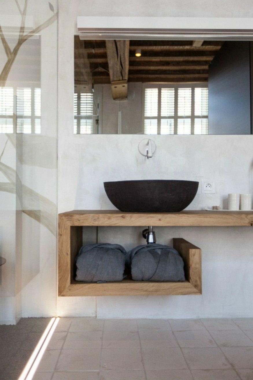 Elegantes Tisch Für Aufsatzwaschbecken Selbst Bauen Waschtisch Aus von Waschbecken Aus Holz Selber Bauen Photo
