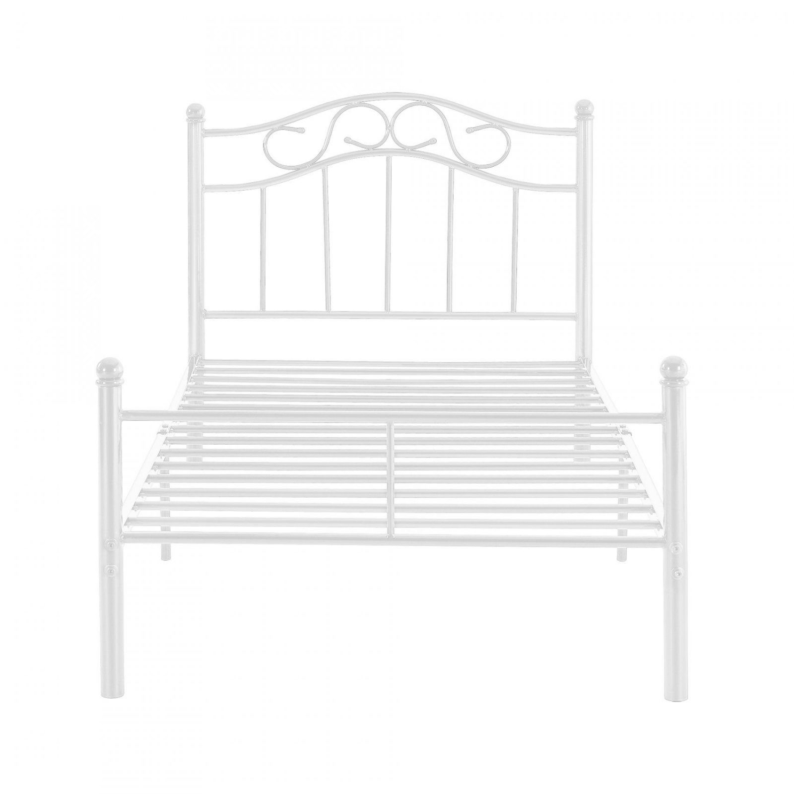 encasa metallbett 90x200 wei bettgestell bett schlafzimmer von bett metall wei 90x200 bild. Black Bedroom Furniture Sets. Home Design Ideas