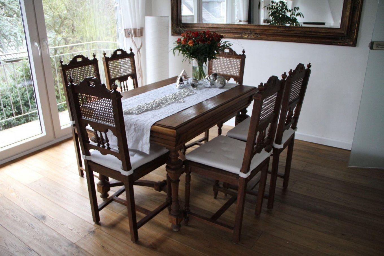 Gebraucht Antiker Esstisch Ausziehbar Mit 6 Stühlen In 66882 Von