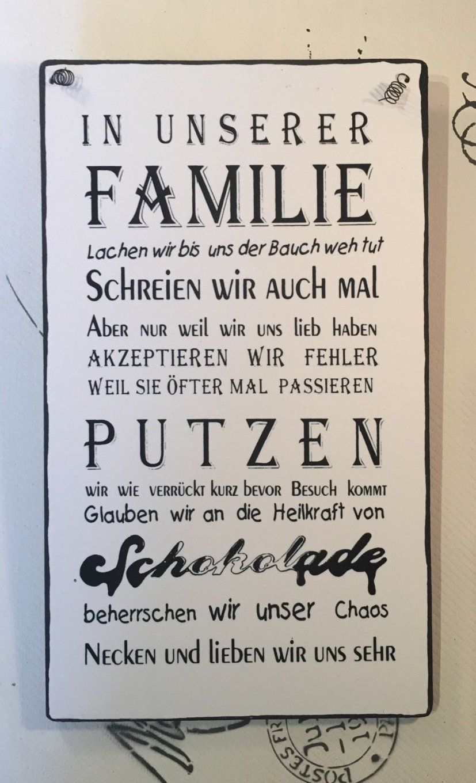 """Familie """"  Wandschild Deko Shabby Vintage In Möbel & Wohnen von Deko Schilder Mit Sprüchen Bild"""