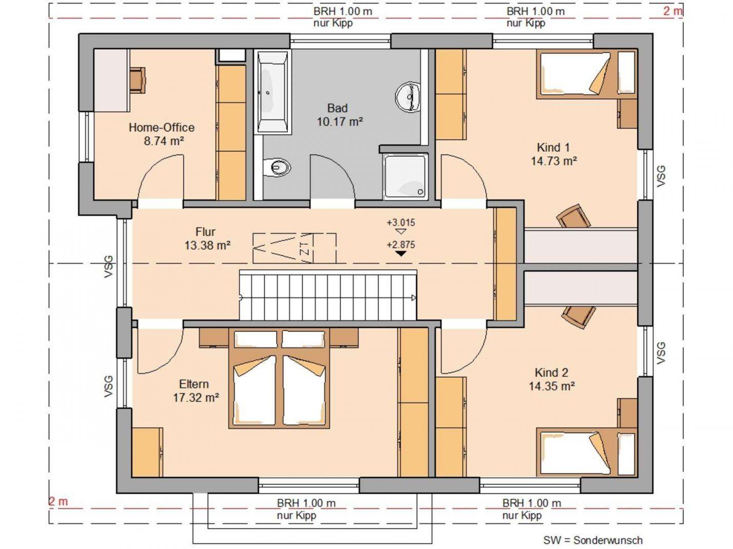 Familienhaus Vero  Satteldach Mit Flacher Dachneigung von Grundriss Einfamilienhaus 150 Qm Bild