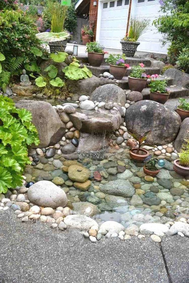 Fantastisch Haus Die Architektur Mit Zusätzlichen Fantastisch 40 von Deko Ideen Mit Steinen Im Garten Bild