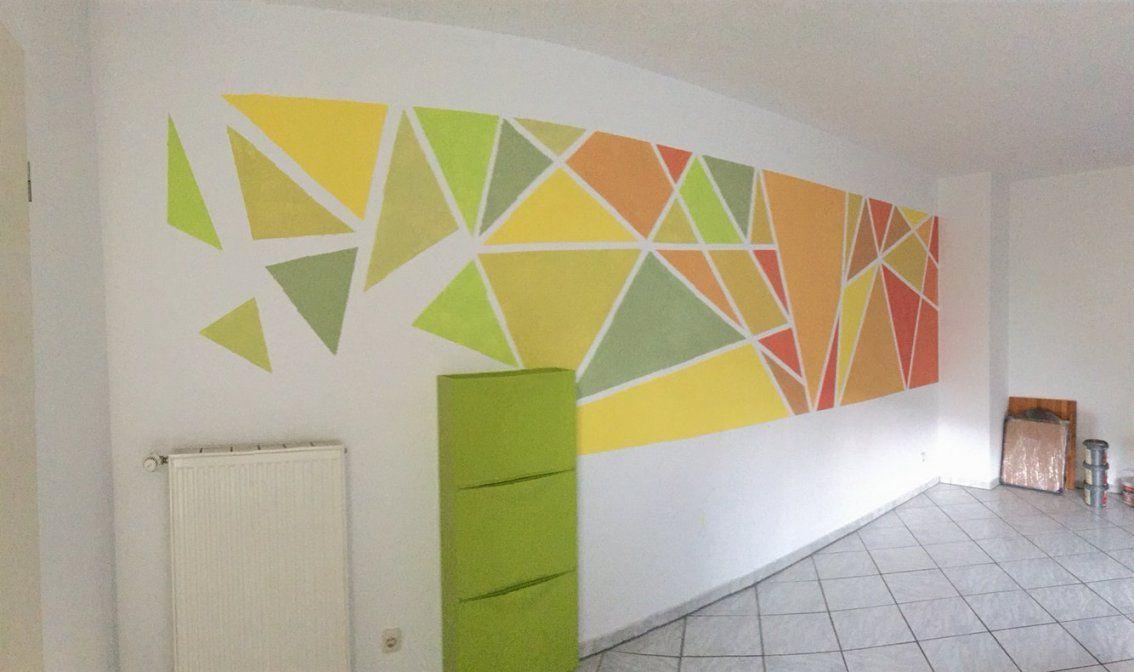 Farbakzente Wand Streifen Fleckig Schlafzimmer von Wand Grün Streichen Ideen Bild