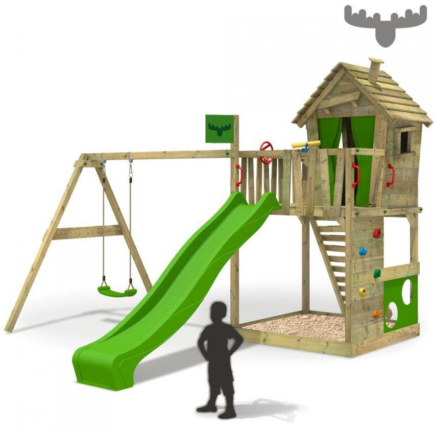 Fatmoose Happyhome Hot Xxl Spielturm Baumhaus Kletterturm Schaukel von Baumhaus Mit Rutsche Und Schaukel Photo