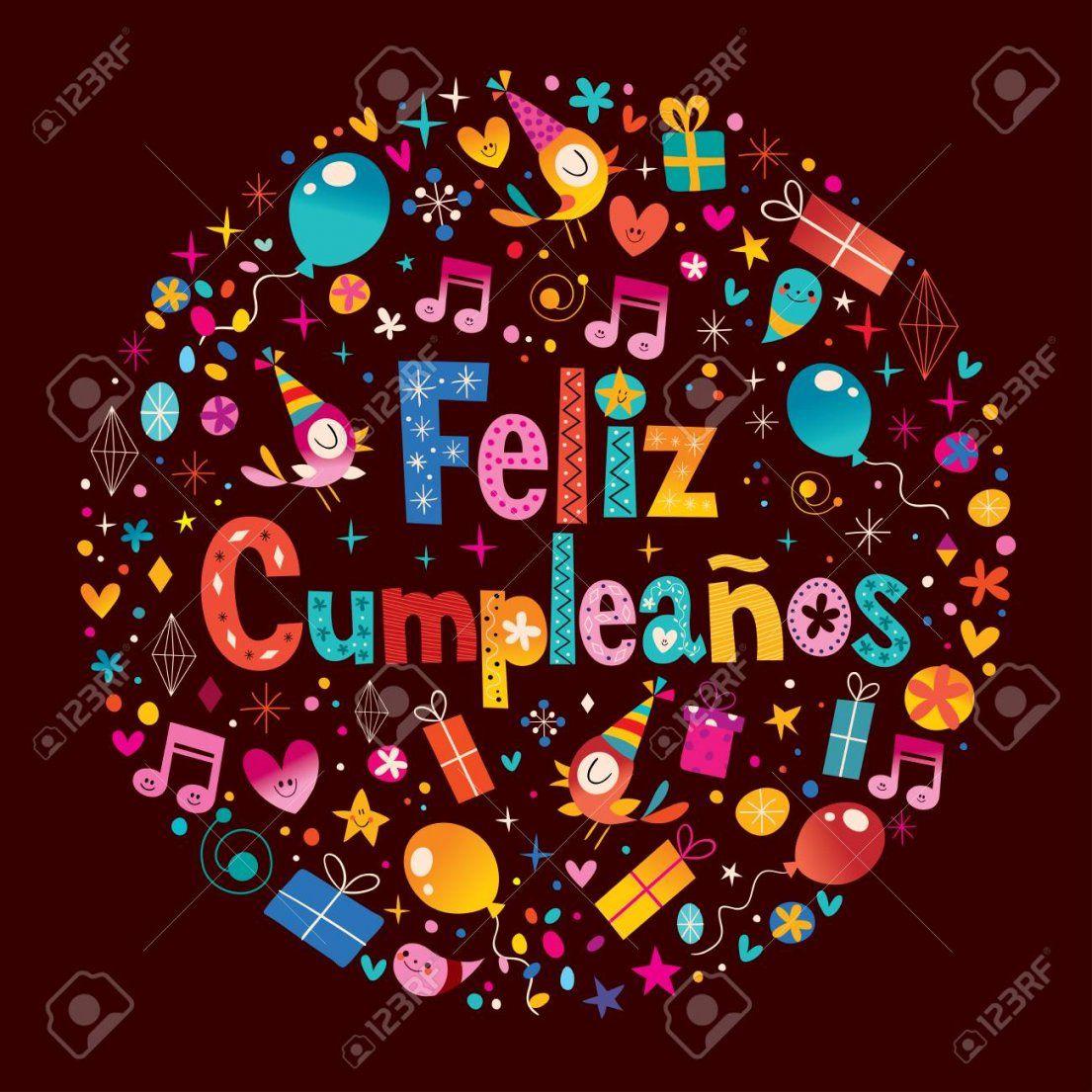 Feliz Cumpleanos  Alles Gute Zum Geburtstag Auf Spanisch Grußkarte von Alles Gute Auf Spanisch Photo