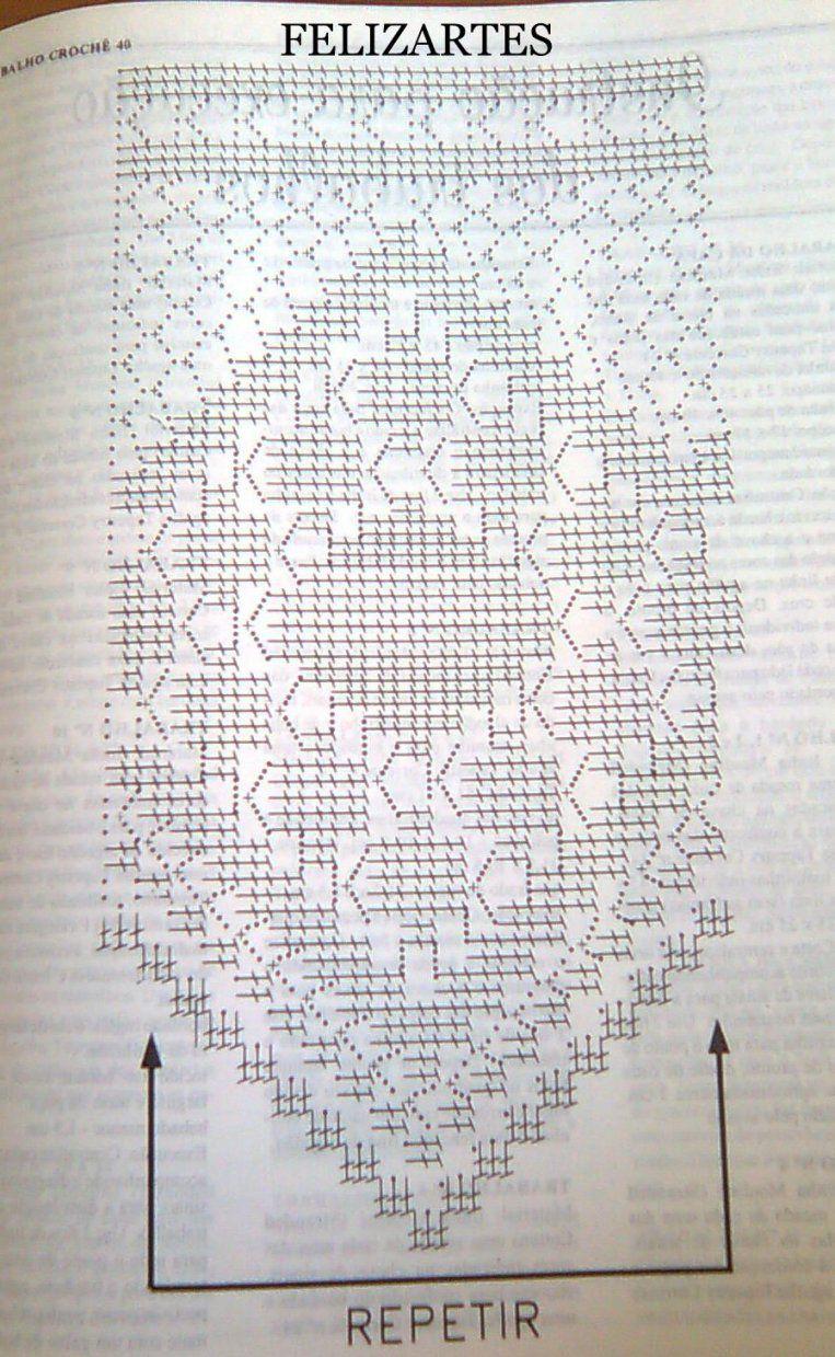 Felizartes Barrado Em Croche  Bricolaje Y Manualidades  Pinterest von Bistro Gardinen Selber Häkeln Bild