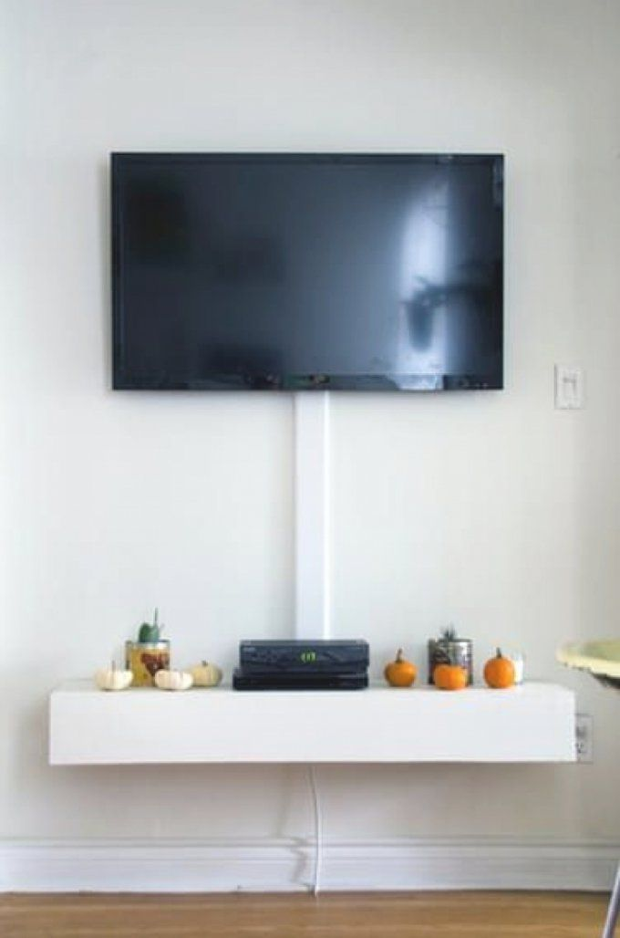 fernseher an die wand h ngen kabel verstecken haus. Black Bedroom Furniture Sets. Home Design Ideas